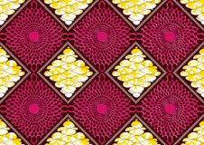 纺织品时尚非洲印刷品织品超级蜡 皇族释放例证