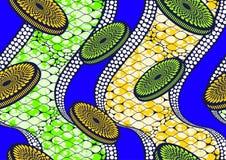 纺织品时尚非洲印刷品织品超级蜡 向量例证