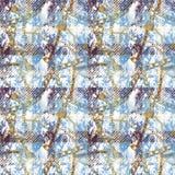 纺织品样式设计 格子花呢披肩和链子 向量例证