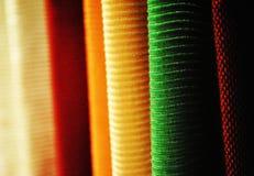纺织品的显示 库存图片