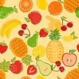 纺织品背景和横幅的无缝的夏天热带水果样式 库存图片