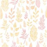 纺织品被构造的秋天留下无缝的样式 免版税库存照片