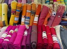 纺织品,艾克斯普罗旺斯法国 库存图片
