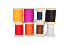纺锤卷或短管轴片盘 免版税图库摄影