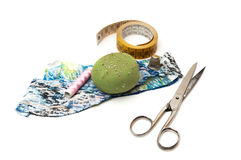 纺织品工具 库存照片
