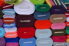 纺织品市场 免版税库存照片