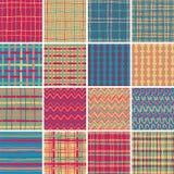纺织品无缝的样式设置了没有 6 免版税库存图片
