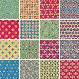 纺织品无缝的样式设置了没有 9 免版税库存照片