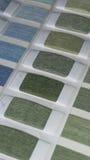 纺织品样片颜色 免版税图库摄影