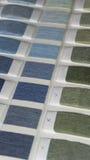 纺织品样片颜色 免版税库存图片