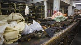 纺织品的木刻版印刷在印度 斋浦尔木刻版印刷Tradi 库存图片