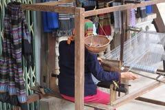 纺织品编织机 库存照片