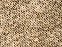 纺织品背景-棕色棉布 库存图片