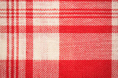 纺织品表面 红色和白色布料纹理 免版税库存图片