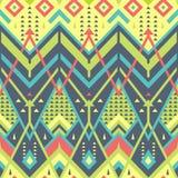 纺织品设计的五颜六色的无缝的雪佛样式 免版税库存图片
