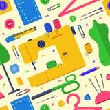 纺织品设计观念设置与缝合 无缝的p 库存图片
