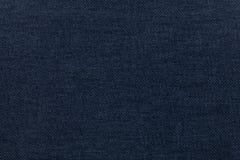 从纺织材料的深蓝背景 与自然纹理的织品 靠山 免版税库存图片