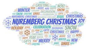 纽伦堡圣诞节词云彩 库存例证