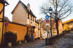 纽伦堡城市视图,一个城市在巴伐利亚的同胞国家的Franconia 库存照片