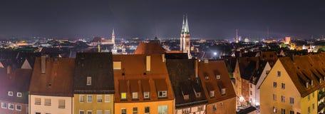 纽伦堡德国,都市风景全景 图库摄影