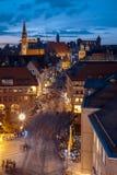 纽伦堡蓝色夜德国 免版税图库摄影
