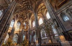 """纽伦堡,德国†""""2016年12月30日:St Sebaldus教会 免版税图库摄影"""