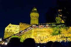 纽伦堡,德国-中断Blaue Nacht 2012年 免版税图库摄影