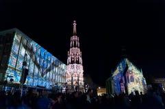 纽伦堡,德国-中断Blaue Nacht 2012年 免版税库存图片