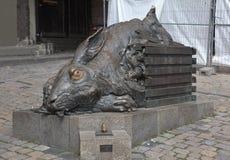 纽伦堡,德国- 2015年9月04日:兔子Durer照片  免版税库存图片