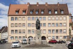 纽伦堡,德国- 2015年9月04日:纪念碑照片对奥尔布雷克特DÃ ¼ rer的 免版税图库摄影