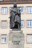 纽伦堡,德国- 2015年9月04日:纪念碑照片对奥尔布雷克特DÃ ¼ rer的 图库摄影