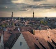 纽伦堡巴伐利亚微明 图库摄影