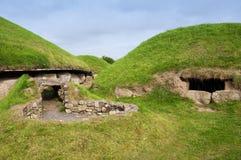 纽格莱奇墓巨石段落坟茔 库存图片