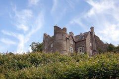 纽波特城堡, Pembrokeshire,威尔士 库存图片