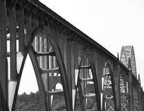 纽波特桥梁,俄勒冈 免版税库存照片