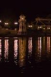 纽波特海湾俱乐部旅馆灯塔  库存照片