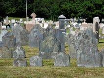 纽波特罗德岛州公墓 库存图片