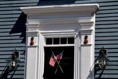 纽波特, RI :伊斯顿的点18世纪家 库存图片