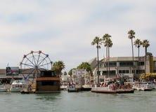 纽波特Beach's巴波亚码头,加利福尼亚,美国 图库摄影