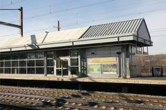 纽瓦克机场火车站 免版税库存图片