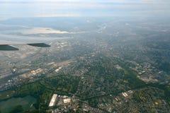 纽瓦克鸟瞰图,新泽西,美国 免版税库存图片