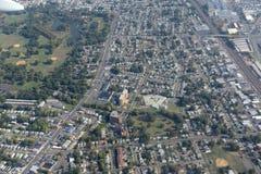 纽瓦克鸟瞰图,新泽西,美国 免版税图库摄影