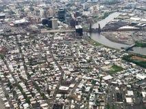 纽瓦克,新泽西鸟瞰图  库存图片