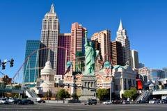 """纽约†""""纽约赌博娱乐场在拉斯维加斯 库存图片"""