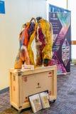 纽约、曼哈顿、美国- 2019年4月7日Artexpo纽约,现代和当代艺术展示,码头90 NYC 免版税图库摄影