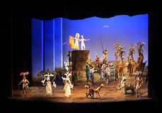 纽约。 Minskoff剧院。 狮子国王 免版税库存照片