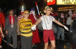 纽约万圣夜游行 免版税库存图片
