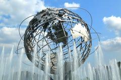 1964年纽约世博会Unisphere在弗拉兴梅多斯公园,纽约 免版税图库摄影