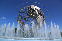 1964年纽约世界s公平的Unisphere在弗拉兴梅多斯公园 免版税库存图片