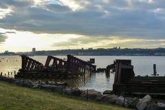 纽约中央铁路第69街道调动桥梁 库存图片